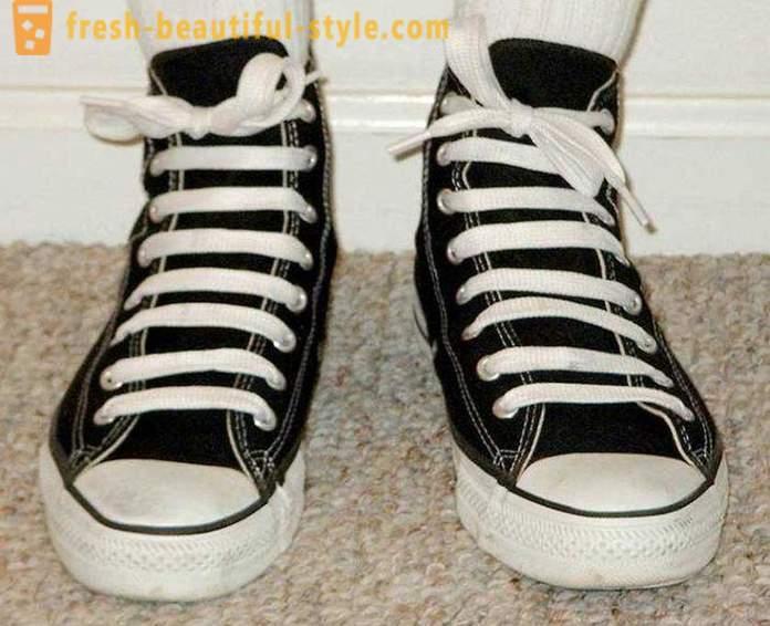 Lace up sko: originale løsninger